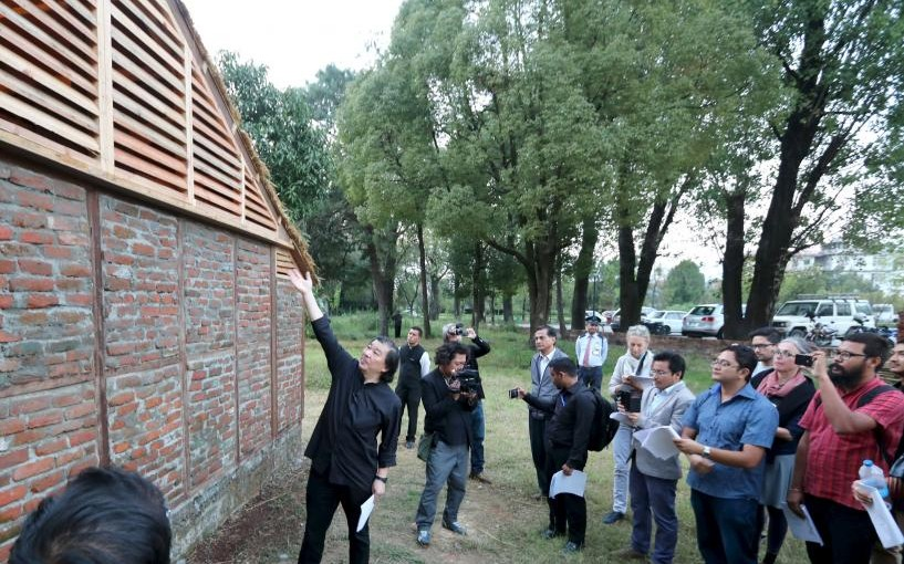 Famed architect Shigeru Ban builds quake-proof homes from rubble in Nepal
