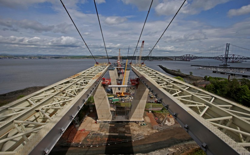 Pictures depict progress on the new Forth bridge (From Herald Scotland)